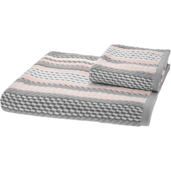 caro home pink grey white striped towels tk maxx bathroom pinterest d pink and. Black Bedroom Furniture Sets. Home Design Ideas