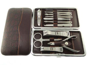 Amazon.com: Hot sale 12 in 1 Stone Pattern Nail Clipper Earpick Tweezer Pedicure Kit Manicure Set Grooming Tool Case Mothers Day Gift B-07T: Beauty