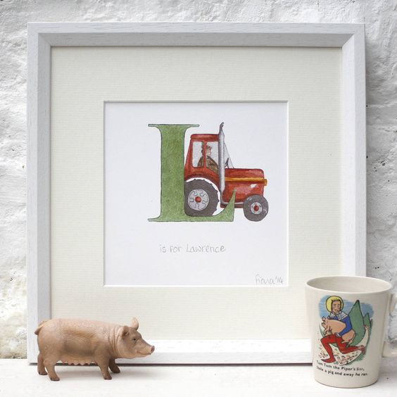 Baby Name Picture Tractor from notonthehighstreet.com