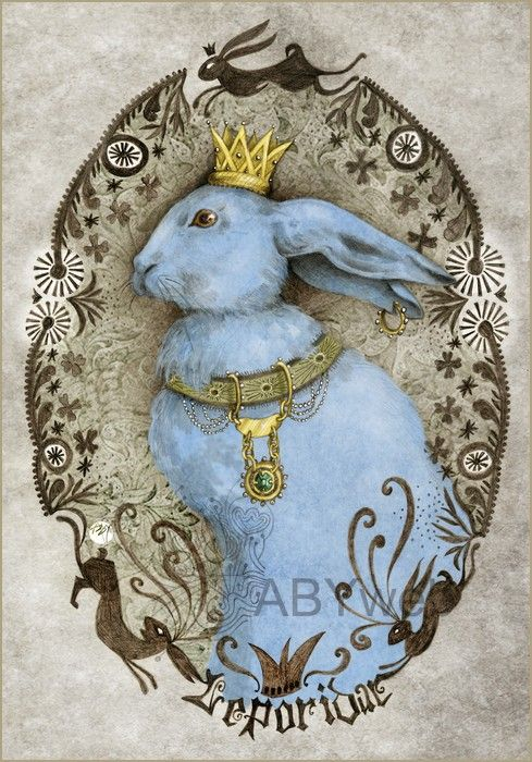 Lièvre bleu serie animus.  Lovely & whimsical illustration.  A blue rabbit that welcomes spring & Easter.  Great holiday Inspiration for DIY paper craft, card, tag, scrapbook or decoration.  A wonderful site where you discover many creative illustrations, photos and crafts.