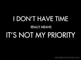 Image result for it's not my priority