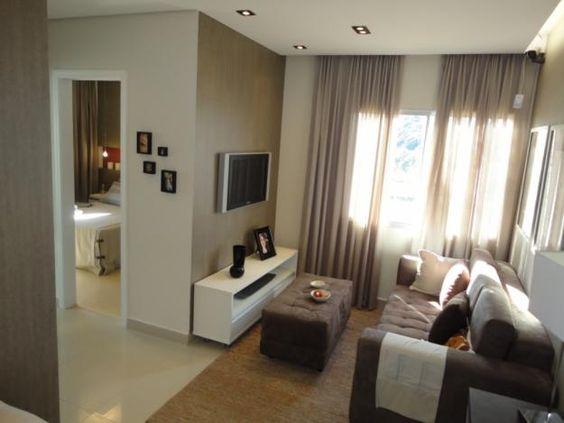 decoraç u00e3o apartamento pequeno sala simples Pesquisa Google Sala TV Pinterest Simple -> Decoração De Interiores Salas Simples