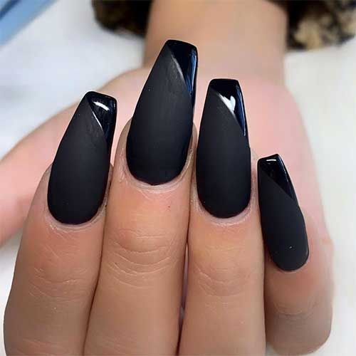 The Most Beautiful Black Winter Nails Ideas Stylish Belles In 2020 Black Acrylic Nails Black Acrylic Nail Designs Black Nail Designs