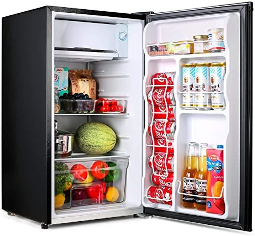 Amazing Offer On Compact Refrigerator Tacklife Mini Fridge Freezer 3 2 Cu Ft Silence 1 Door Black Ideal Small Refrigerator Bedroom Office Dorm Rv M In 2020 Mini Fridge With Freezer Small Refrigerator Mini Fridge