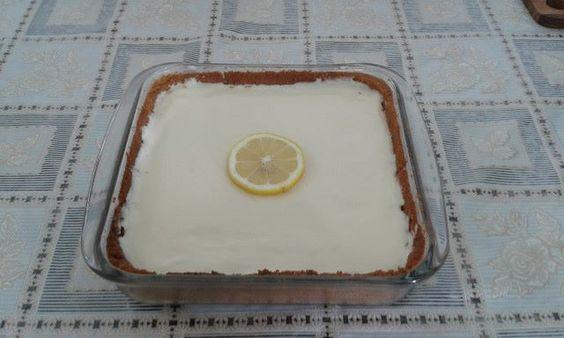 Torta de limão feito pelo mestre cuca Murilo com limão siciliano