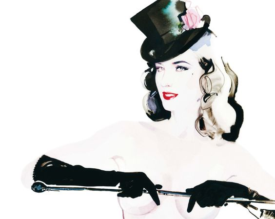 Artist: David Downton #fashion #illustration #art