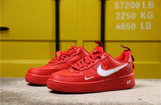 Nike Air Force 1 07 Lv8 Overbranding Utility Team Red Aj7747 800 Nike Air Force Nike Fashion Shoes Nike