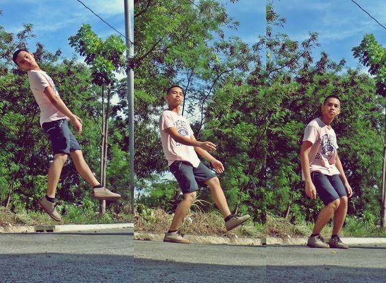 Guthrie Romano - American Eagle Pink Tee, Striped Shorts, Clarks Desert Trek - My Happiness never End. | LOOKBOOK