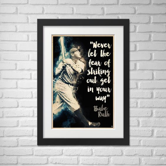 Babe Ruth Illustration / Babe Ruth Poster / Babe Ruth / Yankees / #3 / Great Bambino / Sultan of Swat / King of Terror / Colossus of Clout by Cr8tiveACE on Etsy