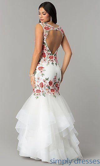 Ivory mexican wedding dress