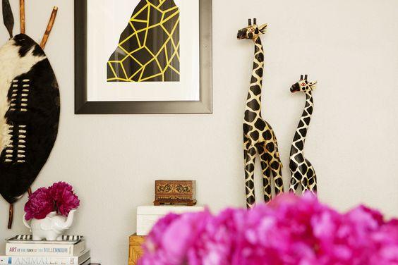 giraffes and giraffe print