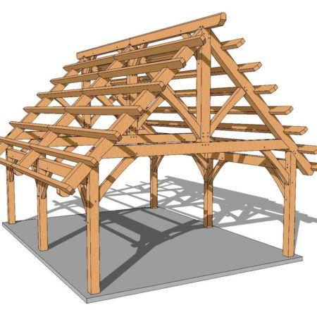 18x24 Timber Frame Plan Timber Frame Plans Timber Frame Pavilion Pavilion Plans
