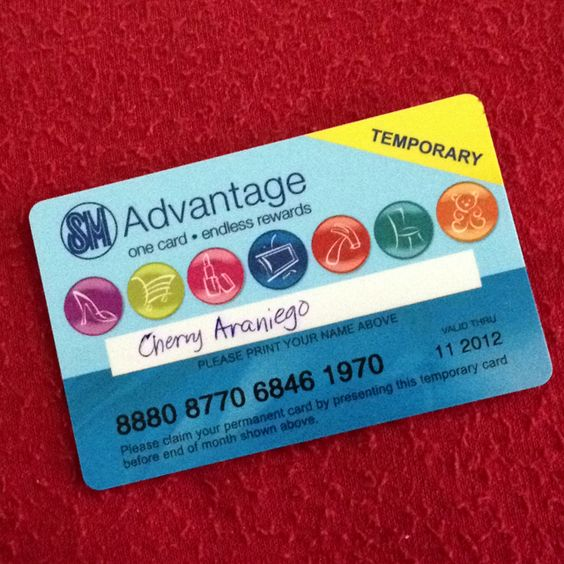SM Advantage Card (temporary) Membership Cards Pinterest - membership card template word