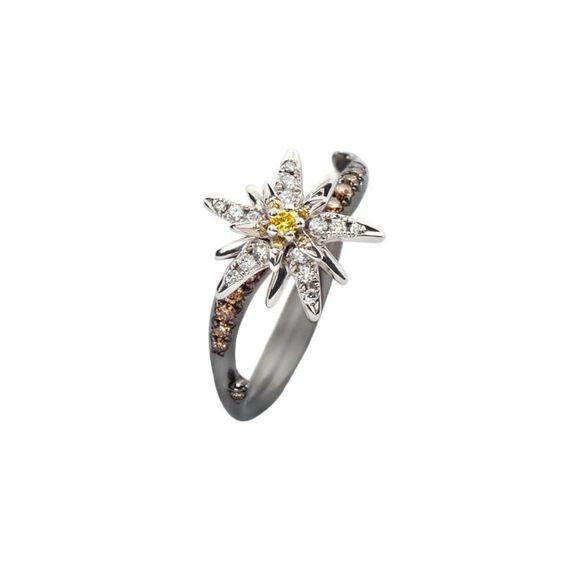 Diamond Ring Designer jewellery Terre d'Edelweiss