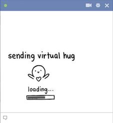 Virtual Hug on Facebook Chatting