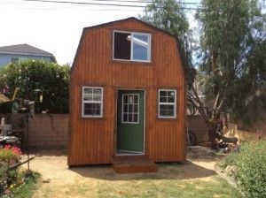This Is A 10x12 Gambrel Roof Shed Built By Mr Dalton Using My 10x12 Barn Shed Plans He Used My Modified Truss Plan Shed Plans Diy Shed Plans Free Shed Plans