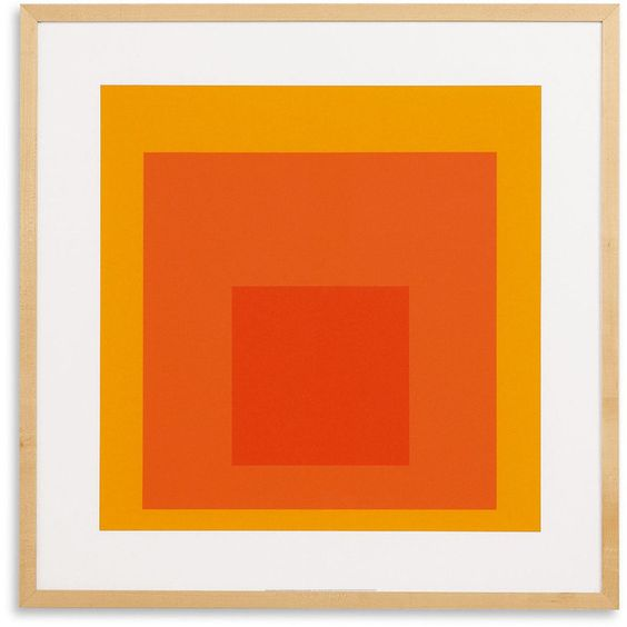 Silkscreen, Albers, Study for Homage To The Square, 1964 (€440) ❤ liked on Polyvore featuring home, home decor, wall art, backgrounds, art, effects, interior and albers