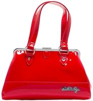Bettie Page Centerfold Purse in Red Vinyl by Sourpuss Clothing