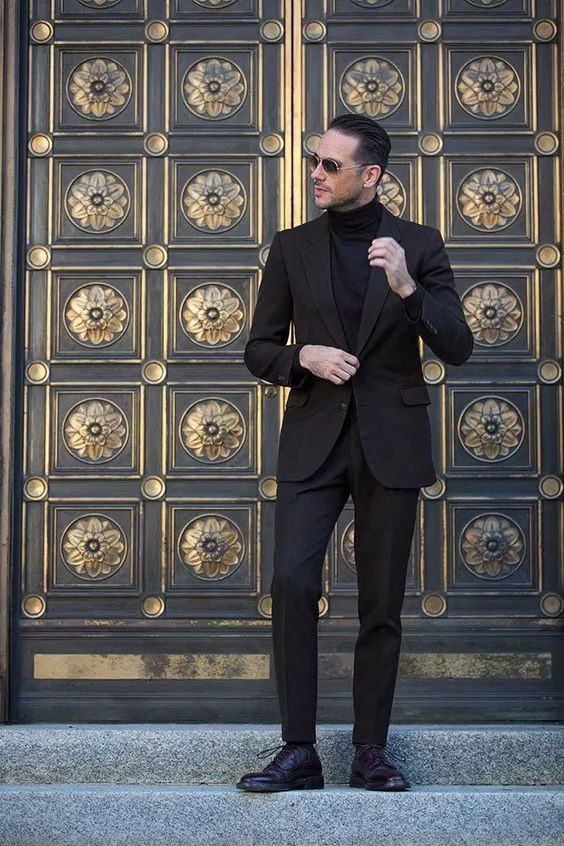 How to Wear a Turtleneck with a Suit | Style Girlfriend