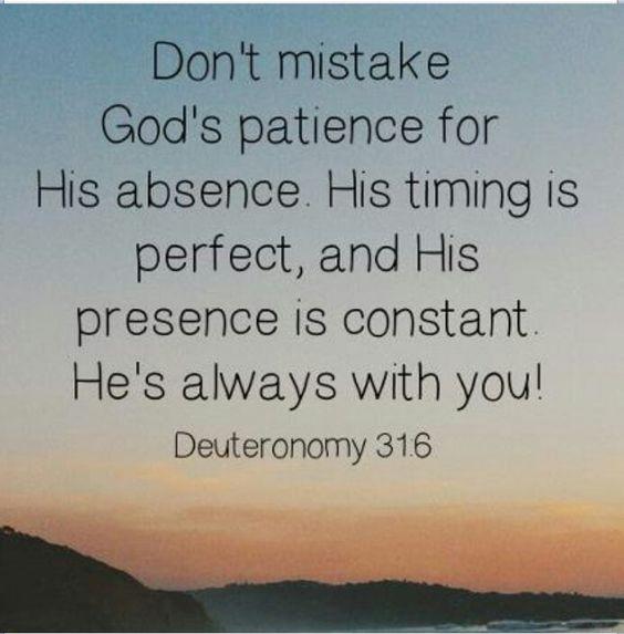 Gods patience: