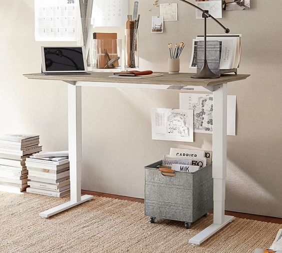 Livingston Sit Stand Humanscale Desk Home Office Design Standing Desk Office Sit Stand Desk