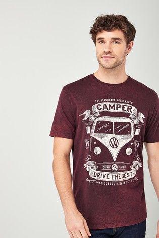 Burgundy Volkswagen Licence T-Shirt
