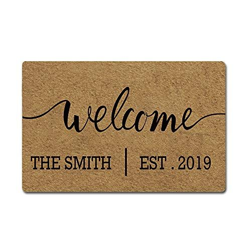 Artsbaba Custom Family Name Personalized Doormat Welcome Https