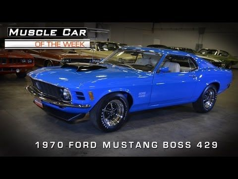 Muscle Car Of The Week Video 32 1970 Ford Mustang Boss 429 Youtube Ford Mustang Boss 1970 Ford Mustang Ford Mustang