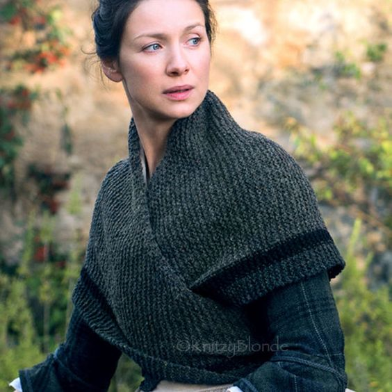 Outlander Claire Rent Shawl Triangle Tweed Highlands Wool, 4 Color Options, M...