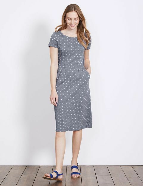 Preloved Boden Uk 10r Phoebe Dress Ww202 Vgc Polka Dot Uk 10r Fashion Clothing Shoes Accessories Womensclothing Womens Tunic Dress Dresses Jersey Dress