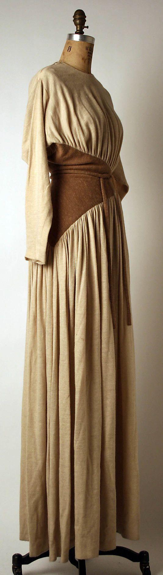 Evening dress Madame Grès (Alix Barton) (French, Paris 1903–1993 Var region) Date: ca. 1975 Culture: French Medium: wool