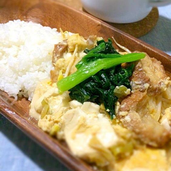 油麩は最強です♡ なんでも、豪華に美味しくなります♡ - 6件のもぐもぐ - お豆腐・油麩丼 by punityoko