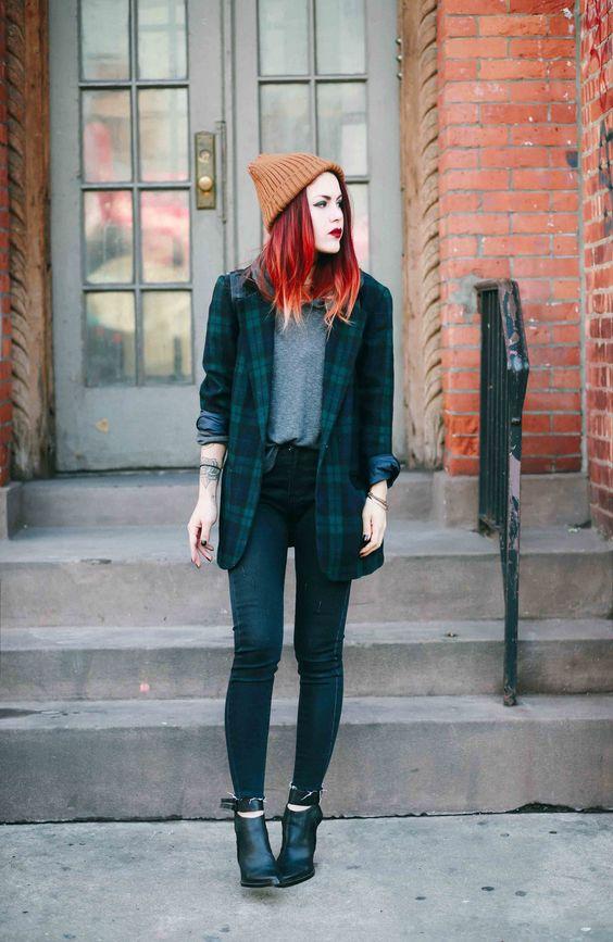 outfits con pantalón invierno