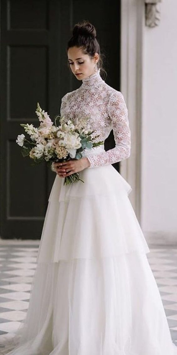 24 Bridal Gowns With Sleeves Never Fails To Impress
