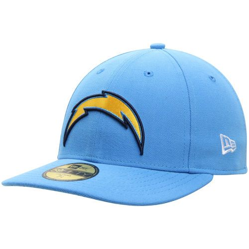 Men S Los Angeles Chargers New Era Powder Blue On Field Low Crown 59fifty Fitted Hat Fitted Hats Powder Blue New Era