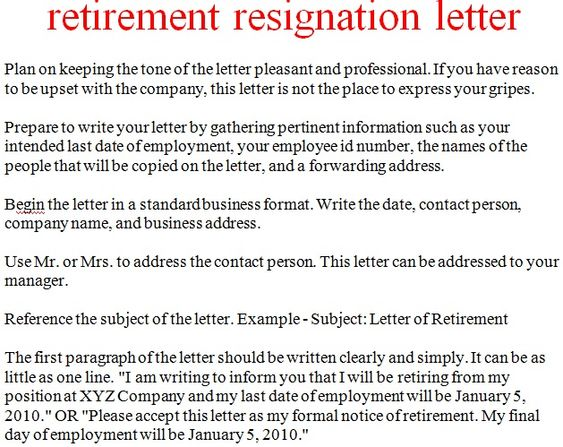 The 25+ best Standard resignation letter ideas on Pinterest - retirement resignation letters
