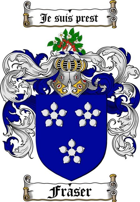 FRASER FAMILY CREST - COAT OF ARMS