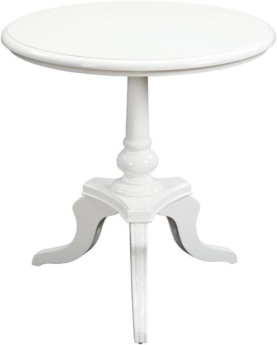 "0-024334>24x25"""" White Chapel Table Gloss White"