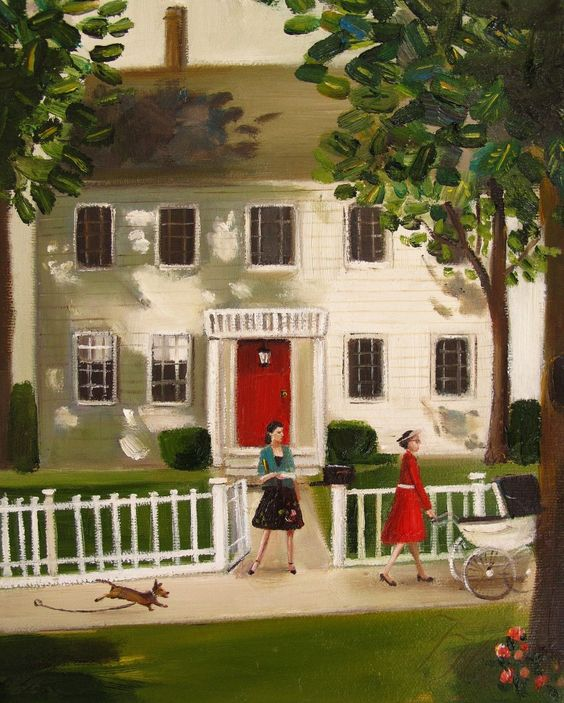 Belinda Never Really Felt At Home In That Big White House On Chestnut Lane by Janet Hill