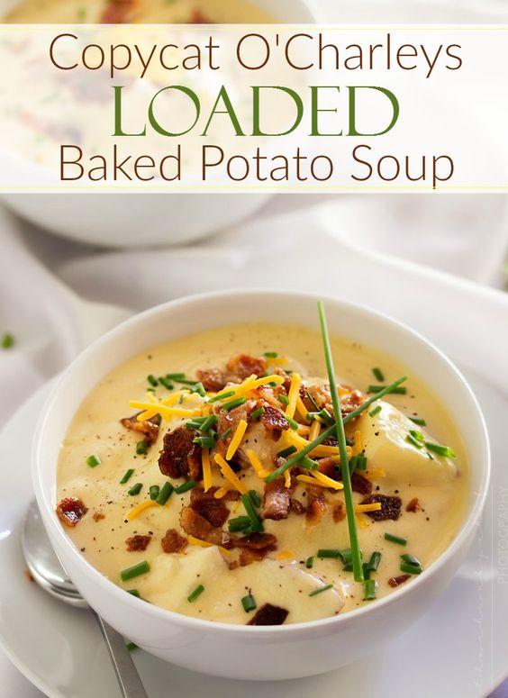 Loaded baked potato soup, Loaded baked potatoes and Baked potato soup ...