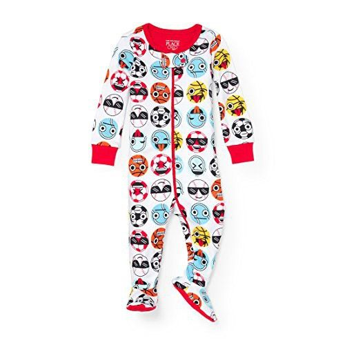 The Children S Place Baby Ball Themed Stretchie Pajamas In 2020 Baby Ball Boys Long Sleeve Toddler Outfits
