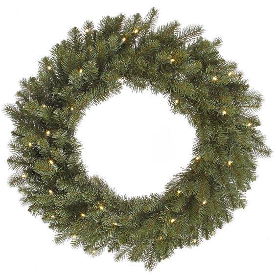 "Colorado Wreath LED 40WmWht (24"")"