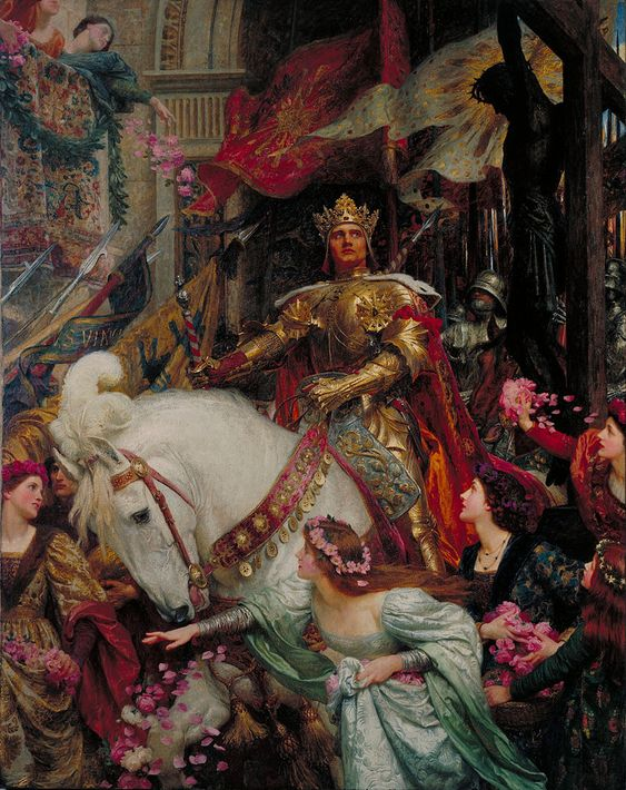 Sir Frank Dicksee - The Two Crowns - Google Art Project - Frank Dicksee - Wikipedia, la enciclopedia libre