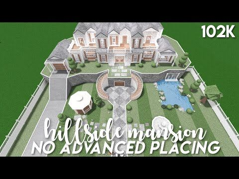 No Advanced Placing Hillside Mansion Bloxburg Speedbuild Youtube In 2020 Two Story House Design Unique House Design Beautiful House Plans