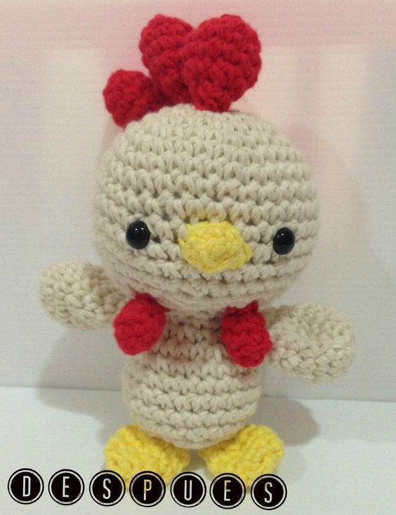 Amigurumi Rooster Pattern Free : Free pattern, Spanish and Birds on Pinterest