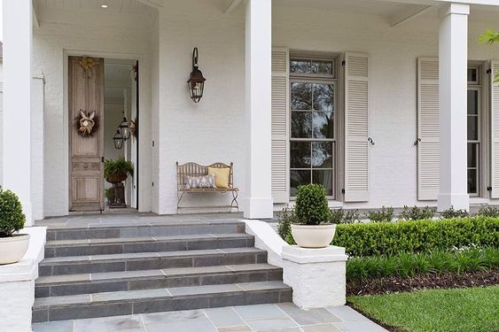 Front porch perfection porch pinterest front porches for Pale perfection paint
