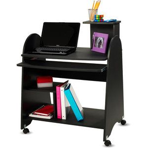 Walmart computer cart and black on pinterest - Computer cart walmart ...