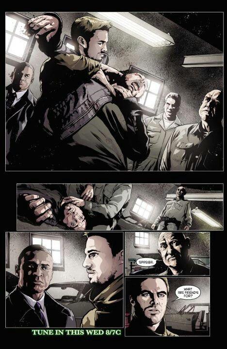 Arrow Comic for 1x12