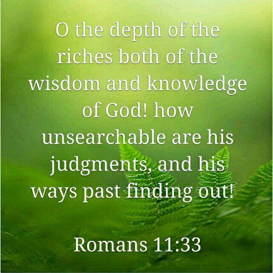 Romans 11:33 KJV: