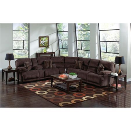 Jackson catnapper carmen reclining sectional group model for Sectional sofa hhgregg